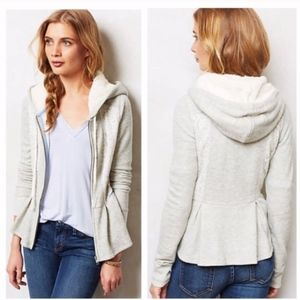 Anthropologie Saturday Sunday Laced Peplum Hoodie